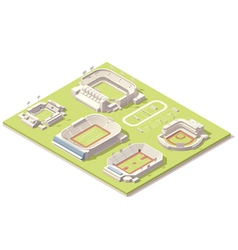 Isometric stadium buildings set vector image