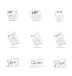 press icon set vector image