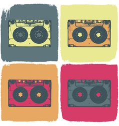 audio cassette pop art concept vector image