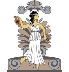 Greek woman with amphoras vector image vector image