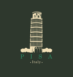 image italian leaning tower in pisa vector image vector image