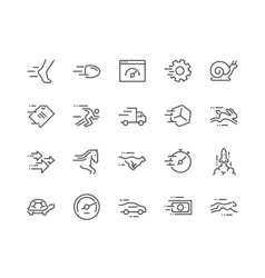 Line Speed Icons vector image vector image
