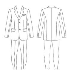 mans suit jacket skinny jeans vector image vector image