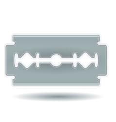 Simple Razor Blade vector image
