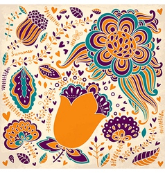 Abstract and colourful spring garden vector image vector image