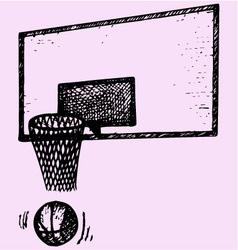 basketball backboard basket ball movement vector image