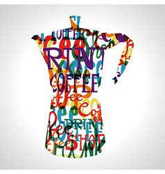 Coffee circle shape vector image vector image