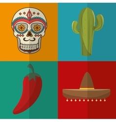 icon cactus mexican design vector image vector image