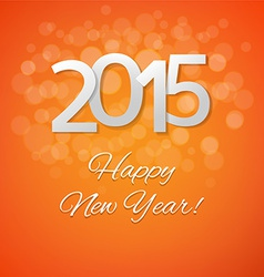 Orange New Year Card vector image vector image