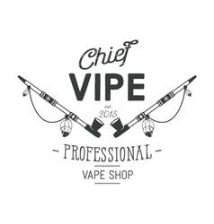 Vintage style Vape Shop emblem or logo vector image vector image