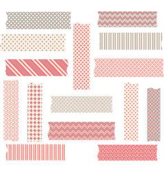 Washi Tape Graphics set vector image vector image
