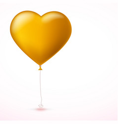 bright yellow heart the inflatable balloon in the vector image