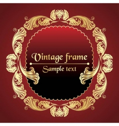 gold pattern frame vector image