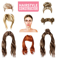 hairstyles for women constructor vector image