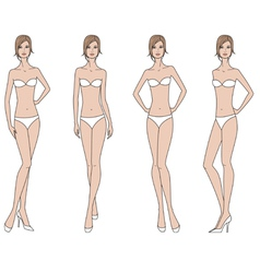 Woman fashion figure vector image