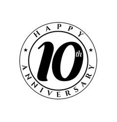 10 th anniversary vector