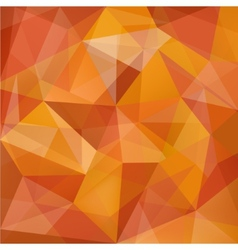 Abstract geometric crystal red orange vector