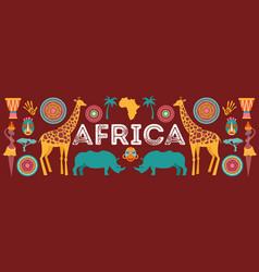 Africa banner safari vector