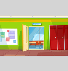 Back to school classroom or auditory hall vector