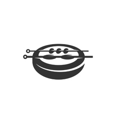 Barbecue icon isolated on a white background vector image