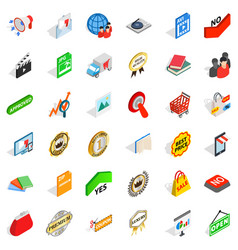 Barter trade icons set isometric style vector