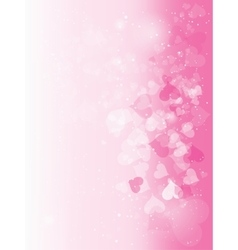 Beautiful abstract background for valentines day vector image