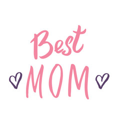 Best mom calligraphic letterings signs set vector