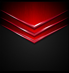 Black and red metal texture background vector