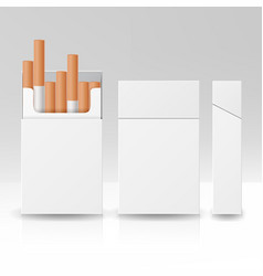 blank pack package box of cigarettes 3d vector image