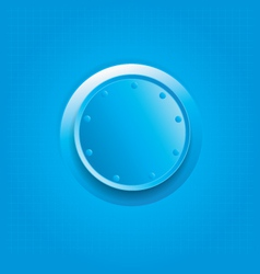 Blue knob vector