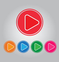 Button video play and audio vector