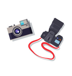 cameras set isolated colorful vector image