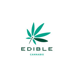 cannabis leaf logo icon vector image