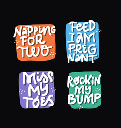 childbearing phrases hand drawn lettering set vector image