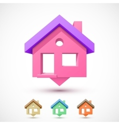 Colorful house pointer vector image