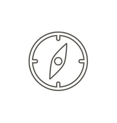 compass icon simple element from map and vector image