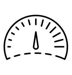 Control speedometer icon outline style vector
