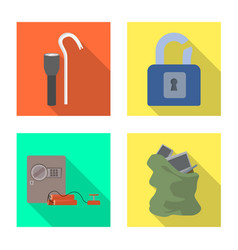 Design crime and steal symbol vector