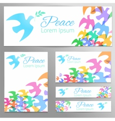 Dove silhouette Logo poster banner template vector