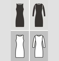 dress set vector image
