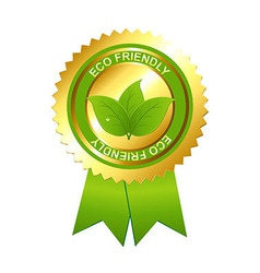 Eco Friendly Emblem vector image
