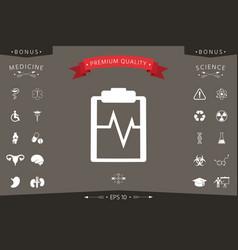electrocardiogram icon symbol vector image