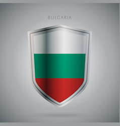europe flags series bulgaria modern icon vector image