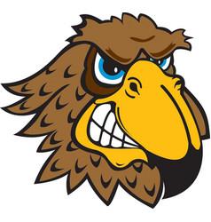 Falcon head logo mascot vector