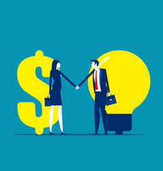 Financial investments in creative projects vector