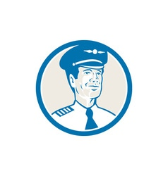 Flight Engineer Navigator Circle Retro vector