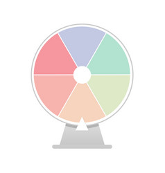 Fortune spin wheel blank isolated stock vector