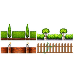 Four designs for fences vector