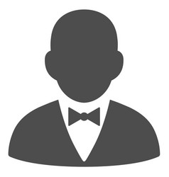 Gentleman icon vector