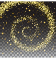 Glittering swirl trail isolated on transparent vector image